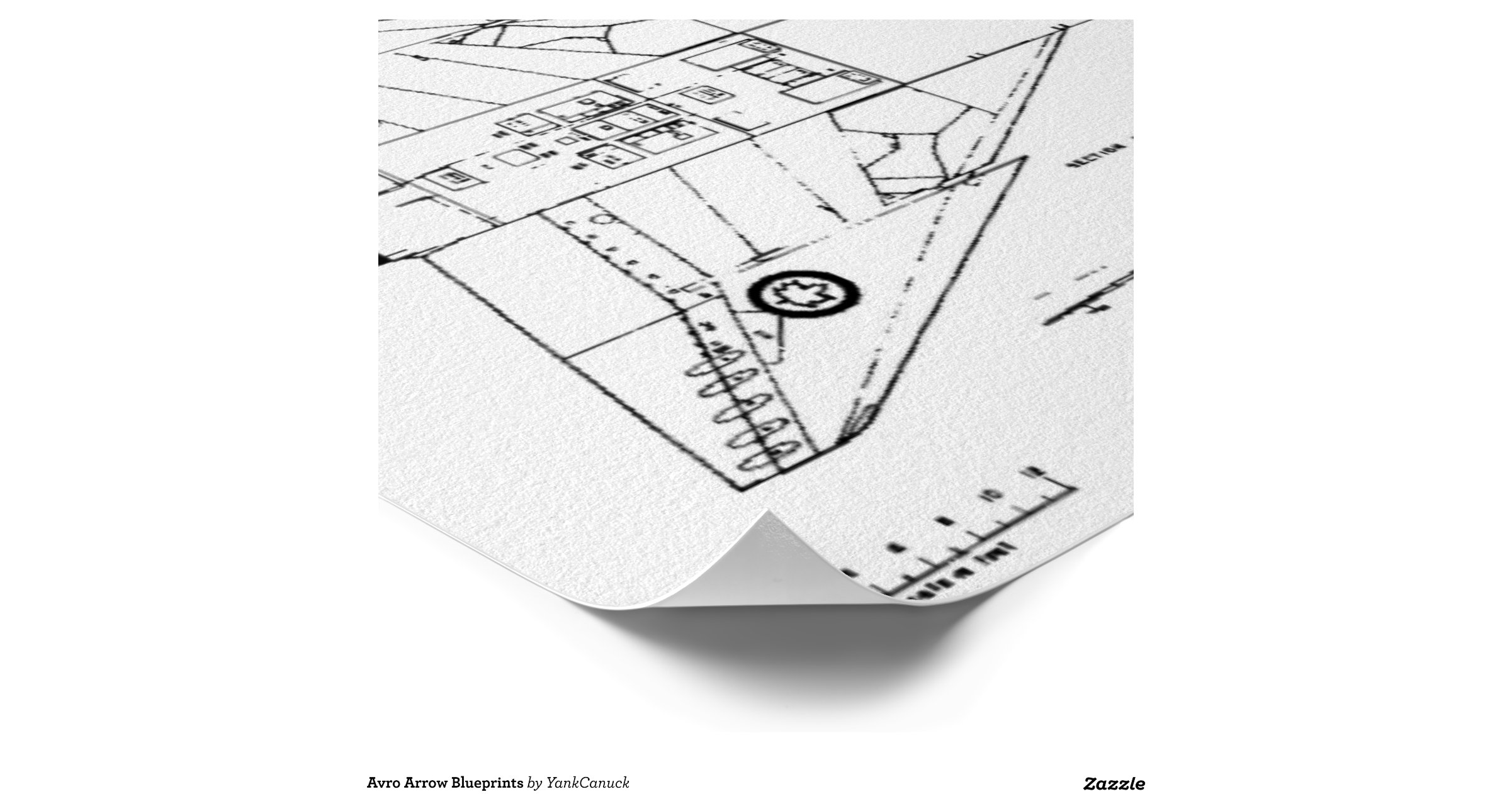 Avro Arrow Blueprints Poster | Zazzle