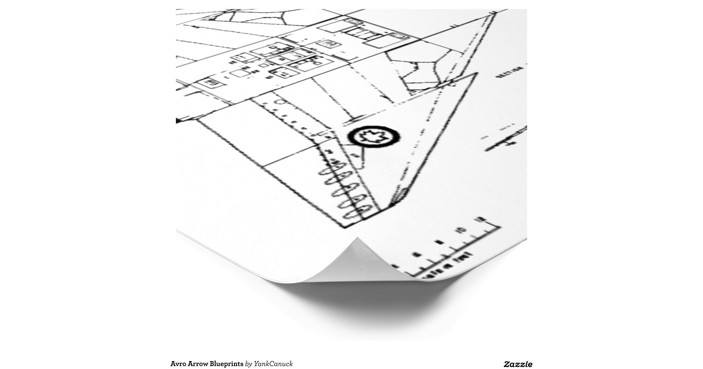 Avro Arrow Blueprints Poster | Zazzle