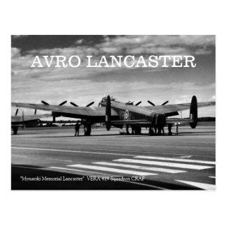 Avro Lancaster Bomber Postcard