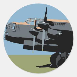 Avro Lancaster Bomber Round Stickers