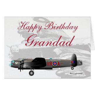 Avro Lancaster Grandad Birthday card