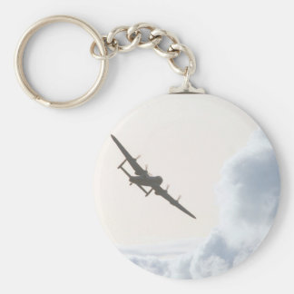 Avro Lancaster / Royal Air_Aviation Photography Basic Round Button Key Ring