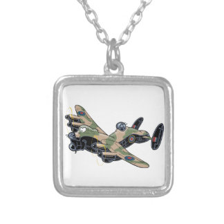 Avro Lancaster Silver Plated Necklace