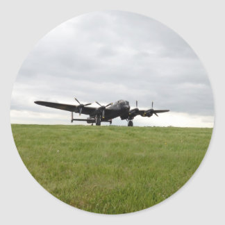 Avro Lancaster Taxiing Classic Round Sticker