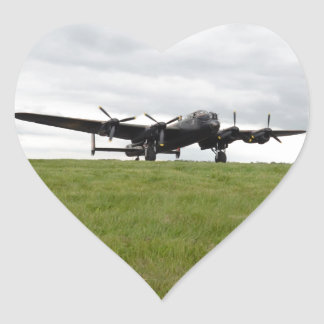 Avro Lancaster Taxiing Heart Sticker