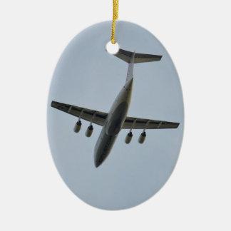 Avro RJ85 Jet In Flight Christmas Ornament