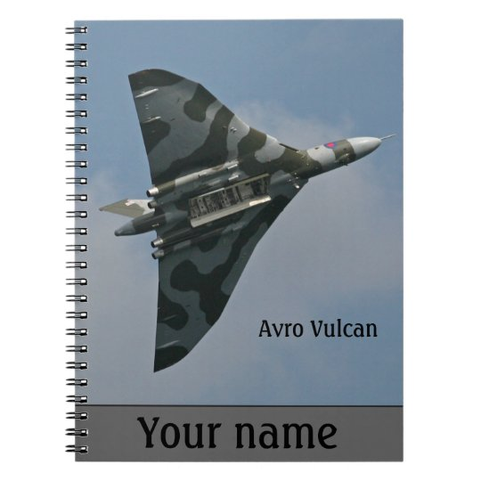 Avro Vulcan Bomber personalised Spiral Note Books