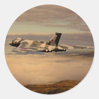 Avro Vulcan Bomber XH558 Classic Round Sticker