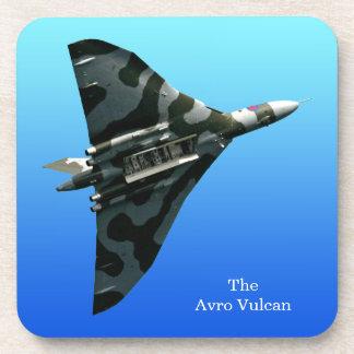 Avro Vulcan Delta Wing Bomber on blue gradient Coaster