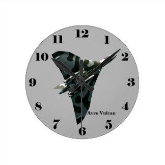 Avro Vulcan Delta Wing Bomber on gray all numbers Wallclock