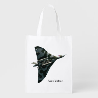 Avro Vulcan Delta Wing Bomber Reusable Grocery Bag