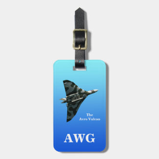 Avro Vulcan Delta Wing Bomber with monogram Luggage Tag
