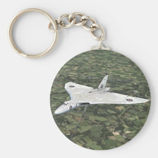 Avro Vulcan Keychain/Keyring Basic Round Button Key Ring