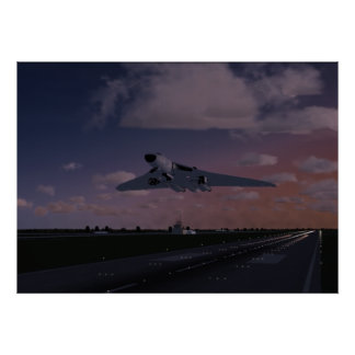 Avro Vulcan Taking Off Poster