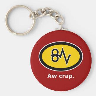 """Aw Crap, Paper Jam!"" Basic Round Button Key Ring"