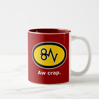 """Aw Crap, Paper Jam!"" Two-Tone Coffee Mug"