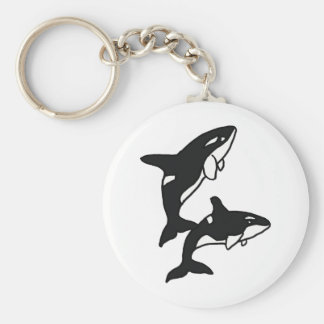 AW- Leaping Killer Whales Key Ring
