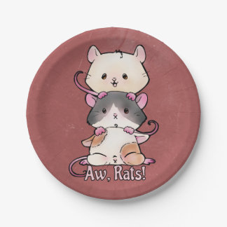 Aw, Rats! Paper Plate