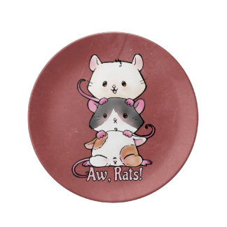 Aw, Rats! Plate