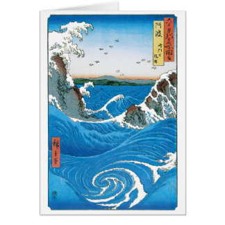 Awa Province Naruto Whirlpools by Ando Hiroshige Cards