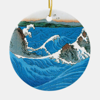 Awa Province, Naruto Whirlpools by Ando Hiroshige Christmas Ornament