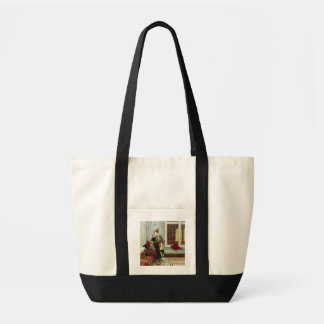 Awaiting an Audience (oil on panel) Impulse Tote Bag