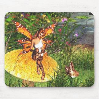 awaiting autumn fairy mousepad