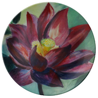 Awaken Lotus  Decorative Porcelain Plate