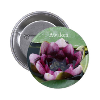 Awaken Lotus Flower Photo Round Badge