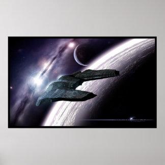AWAKENED sci-fi space poster print