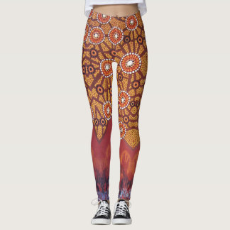 Awakening Aboriginal Dance Leggings