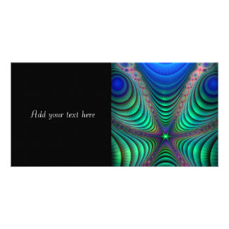 Awakening Colorful Fractal Abstract Art Picture Card