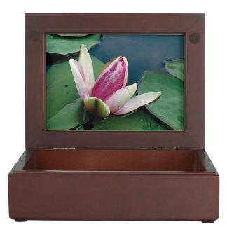 Awakening Pink Lotus Flower Photo Keepsake Box