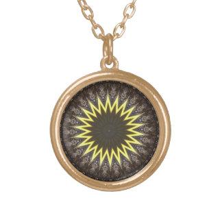 Awakening Sun Mandala Round Pendant Necklace