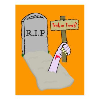 Awakening Zombie Postcard Template