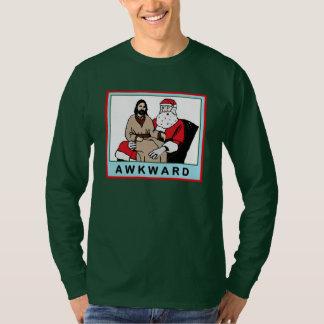 AWAKWARD: Jesus Sitting on Santa's Lap T-shirt