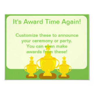 "Award Ceremony or Party 4.25"" X 5.5"" Invitation Card"