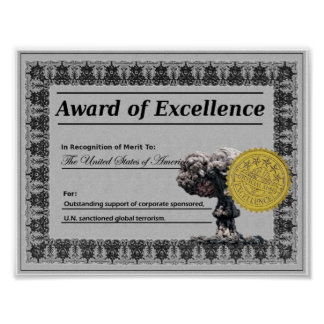 Award Of Excellence (United States) Poster