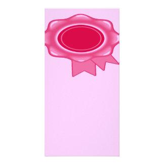 Award Ribbon Bookmark Pink Photo Greeting Card