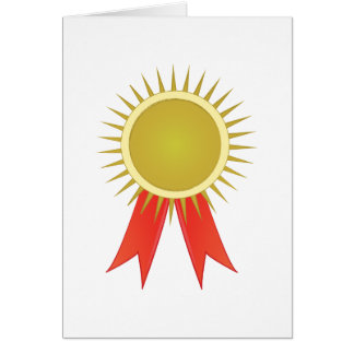 Award Ribbon Card