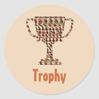 AWARD : Vintage Engraved Gold Round Sticker