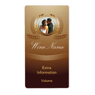 Award Winning Gold Wine Label With Kisses Shipping Label