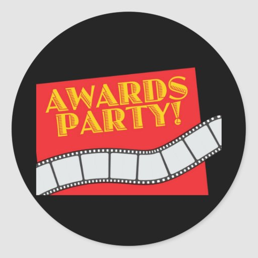 AWARDS PARTY STICKER