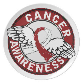 Awareness 14 Head and Neck Cancer Party Plates