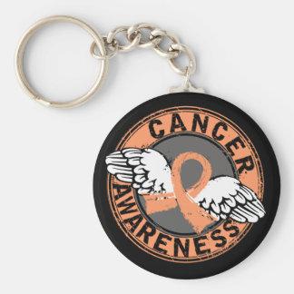 Awareness 16 Uterine Cancer Basic Round Button Key Ring