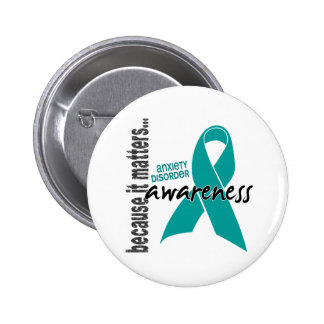 Awareness 1 Anxiety Disorder 6 Cm Round Badge