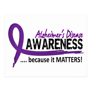 Awareness 2 Alzheimer's Disease Postcard