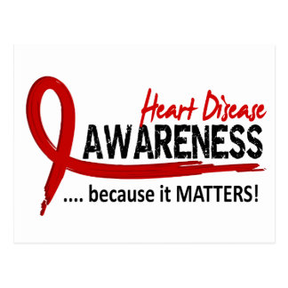 Awareness 2 Heart Disease Postcard