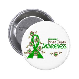 Awareness 6 Traumatic Brain Injury 6 Cm Round Badge