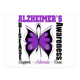 Awareness Butterfly Alzheimers Disease Postcard